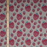 StoffHandwerker Erdbeeren - Grau Melange - French Terry