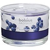 Vaso con vela aromática Bolsius Blueberry