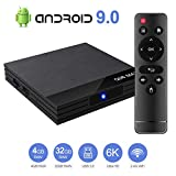 Android 9.0 TV Box Smart Media Box 4GB RAM 32GB ROM H6 Quadcore WIFI 2.4G Ethernet 2USB 3.0 Set Top Box Support 6K Ultra HD Internet Video Player
