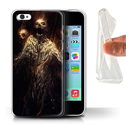 Offiziell Chris Cold Hülle / Gel TPU Case für Apple iPhone 5C / Kriegsheld/Warlock Muster / Dämonisches Tier Kollektion Ghouls der Furcht