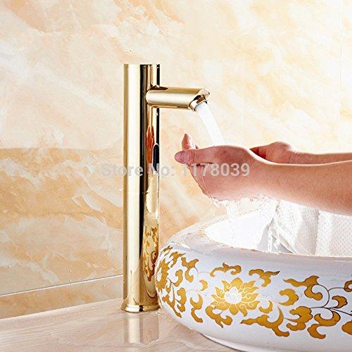 5151buyworld hochwertige Armatur Antik-Messing Automatischer Sensor Wasserhahn, goldfarben, Induktions-Sensor Wasserhahn DC/AC-Mixer, für Badezimmer, Küche und Zuhause, gaden (Ac-ventil-core)