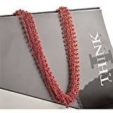#5: Zephyrr Fashion Hand Made Golden Multi Strand Beaded Necklace For Women and Girls