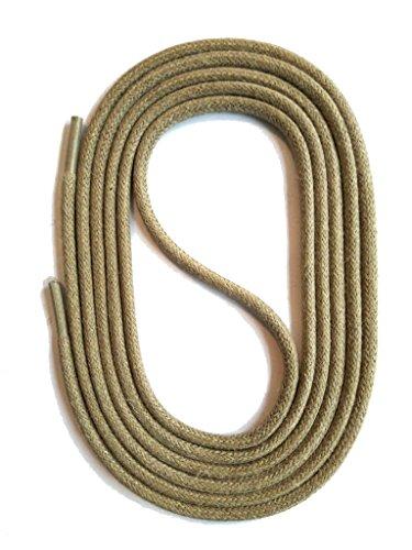 Runder Sand (SNORS gewachste Schnürsenkel RUND BEIGE SAND 75cm, 3mm, reißfest, Rundsenkel aus Baumwolle Made in Germany für Lederschuhe, Herrenschuhe, Business-Schuhe, Anzugschuhe, Damenschuhe)
