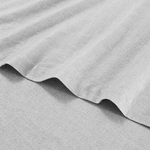 100% Pure Brushed Cotton Flannelette Flat Sheet Super Soft Thermal Bed Sheets - King - Vapor Blue