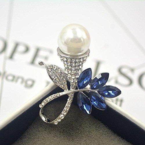 Axiba Broschen Blumenbrosche mit Diamant Brust Schamlippen Dame Brosche Zubehör Kreatives Geschenk