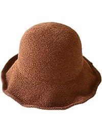 XIAOXINYUAN La Mujer Tejidos Pot Hat Verano Ocio Plato Ligero Sombrero para  El Sol Sombrero De Paja Plegable Sombrero del Pescador… 34ad444d6a3