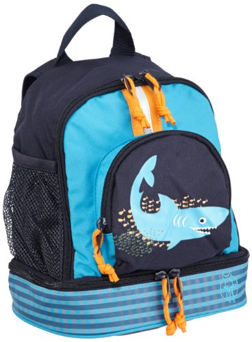 Lässig Mini Backpack Kinderrucksack Kindergartentasche, Brotdosenfach unten, Shark ocean blau