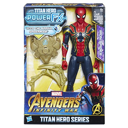 Hasbro Marvel Avengers Infinity War Iron Spider Titan Hero Power FX (Personaje 30 cm, Action Figure), 30 cm, e0608103