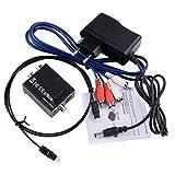 Digital a analógico convertidor corriente Audio con 1m TOSLINK & rca rca cable & EU Adaptador de red