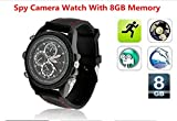 Electro-Weideworld 8GB 960P Uhr kamera Mini DV Camcorder Spion Uhr DVR Spion versteckte Kamera-Uhr