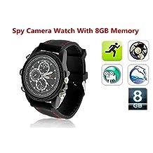 Electro-Weideworld - 8Go HD 1280 * 960 Caméra Espion Montre Mini DV Enregistreur Vidéo Caché Sécurité DVR