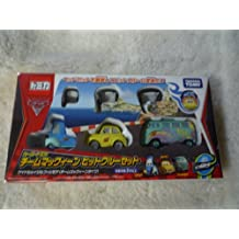 Toys R Us Limited Tomica Cars McQueen pit crew team set (japan import)