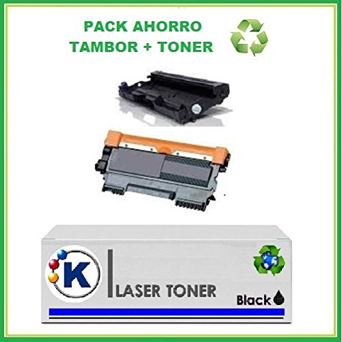 Preisvergleich Produktbild Pack: 1 Remanufactured Toner Brother TN 2220 + 1 Trommel Kompatible Drucker: Brother HL2240 / 2250 / DCP 7060 / 7065 / MFC7360 / 7460 / 7860 Hohe Kapazität
