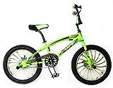 Reset Bicicletta Freestyle 20' BMX Jumper Verde Fluo
