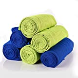 Tomppow Handtücher Mikrofaser Kühltuch Kühlendes Handtuch Cool Handtuch,Sofort Kaltes,Schnell Trocknend Kaltes Handtuch,120cmX30cm für Fitness Yoga Camping Wandern