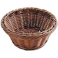 Lacor 63874 - Cesta de Pan Redonda, 26 x 8 cm, marrón