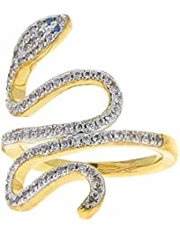 ISADY - Ashli Gold - Women's Ring - 750/000 (18 Carat) Gold - Cubic Zirconia – Snake