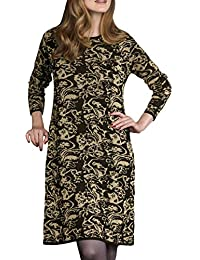 TopsandDresses Ladies Navy Silver or Black Gold Knitted Dress or Long Tunic UK Sizes 10-26