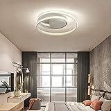 FCX-LIGHT Spirale Creativo LED Luce da soffitto Camera da Letto Plafoniera Moderno Minimalista Soffitto Lamp per Soggiorno Ristorante,Warmlight,60CM