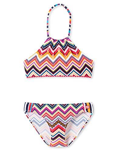 Schiesser Mädchen Badebekleidungsset Aqua Highneck-Bikini, Mehrfarbig (Multicolor 1 904), (Herstellergröße: 164)