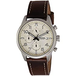 Fossil Chronograph Off-White Dial Men's Watch-FS5138