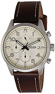Fossil Chronograph Off-White Dial Men's Watch - FS5138