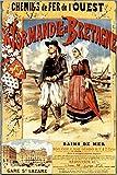 Vintage-Poster Normandie und Bretagne - Format 40 x 60 cm
