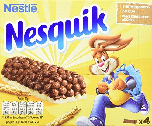 Nestlé NESQUIK Riegel, Cerealien mit Vollkorn-Weizen & Kakao, Müsli-Riegel To Go, mit Calcium, 8er Pack (8 x 100 g)