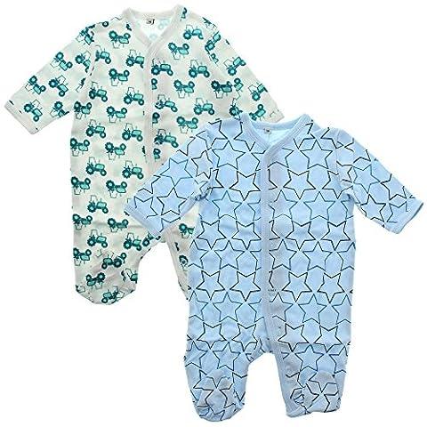 Pippi Baby - Jungen Zweiteiliger Schlafanzug Nightsuit W/F -Buttons (2-Pack),, Gr. 92 cm,Blau (Light