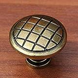 ZTZT Bronze baisse anneaux bouton tiroir armoire tirez laiton antique commode porte poignée bouton de style vintage avec plaque arrière meubles poignéesJM1203A