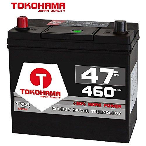 Tokohama Asia Japan Autobatterie 12V 47AH 460A/EN + Plus Pol Links 54524 45Ah