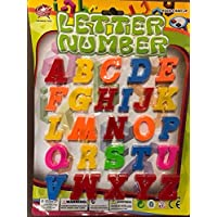 thehomegallery THG® Magnetic Letters Alphabetic Numbers Fruits Fridge Magnets Full Alphabet A-Z Upper Case 3cm Large
