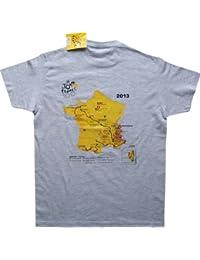 T-shirt Tour de France - Parcours des étapes 2013 - La Grande Boucle - Collection officielle - Cyclisme - Tee shirt adulte