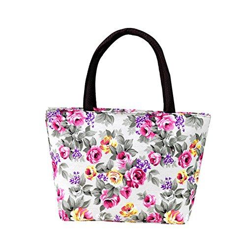 Lubier Handtaschen Tragetasche Lunchbox Tasche Designer Strand Umhängetasche für Bücher Tablet Persönliche Effekte (Grün-legere Handtasche)