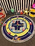 BEAUTIFULNUHAI Für Christmas1.5m Baumwolle Teppich Runde Kinder Gym Rug Spielmatte Baby Spielzeug Beutel Baby Krabbeln Decke Outdoor Pad p