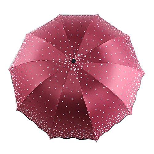 10 Costillas Paraguas De Vinilo Paraguas UV Señoras