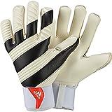 Adidas Classic Pro - Guantes de portero para hombre, color multicolor (white/black/solar red), talla 9