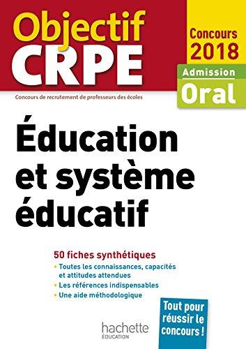 CRPE en fiches : ducation et systme ducatif 2018