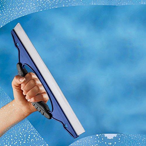 Abziehprofi, Fensterputzen ohne Tropfen und Streifen mit Lochgriff und Silikonlippe für streifenfreie Sauberkeit