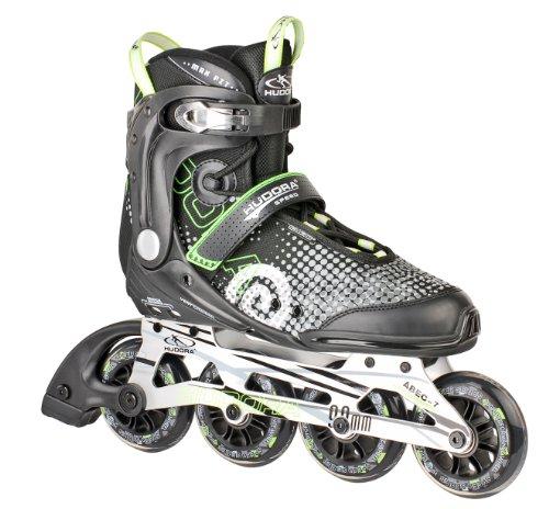 HUDORA Inliner Inline-Skates RX-90, Gr. 42, für Jugendliche und Erwachsene, schwarz/grün