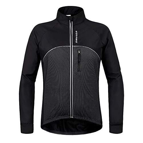 YIOY Weiche Schale Thermische radjacke radjacke Fahrrad Mantel Outdoor-Bike-Trikot Sport-Radfahren, Black