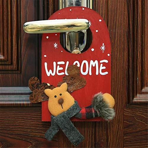 WESEEDOO Tür hängende Anhänger Tür hängende Wand Tür Anhänger Weihnachten dekorative Tür Wandhalter (Elch) -