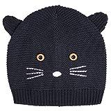 ZOEREA Bambino del bambino della ragazza del ragazzo maglia cappello bello morbido cappello per bambino a maglia cappelli invernali cappello di Natale (80(12-36mesi), blu scuro)