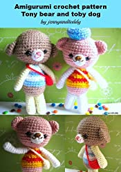 Amigurumi crochet pattern Benny bear and Toby little dog (English Edition)