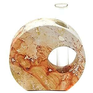 """Vase marbré soliflore """"tube à essai"""" de couleur - 23 cm"""