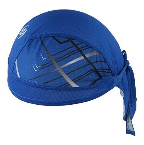Imagen de ahatech deportes headwear secado rápido sol protección uv ciclismo bandana running gorro casco de bicicleta motocicleta cap azul alternativa