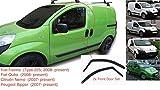 2x Deflettori D'Aria Compatibile con Fiat Fiorino o Qubo Citroën Nemo Peugeot Bipper 2007-presenti Antiturbo Per Auto Vetro Acrilico Anti Vento Guardia di Pioggia Sole Neve Qualità premium PMMA