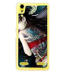 ifasho Designer Phone Back Case Cover Lenovo A6000 :: Lenovo A6000 Plus :: Lenovo A6000+ ( Grand Mom MotherTattoo Art )