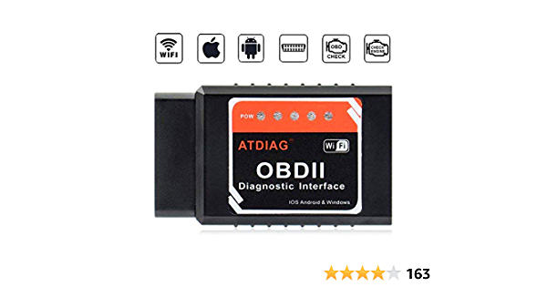 Atdiag Car Wifi Obd2 Scanner Wireless Obdii Car Code Reader Scan Tool Check Engine Diagnostic Interface For Ios Apple Iphone Ipad Mini Ipod Touch Torque Android Windows Auto