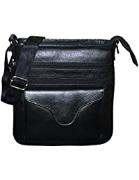 Style98 100% Pure Leather Handmade Stitched Unisex Sling Bag For Men,Women,Boys & Girls - B06XXXS4CD